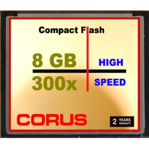 CORUS Compact Flash 8 Go 300x