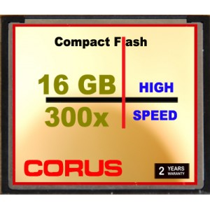 CORUS Compact Flash 16 Go 300x