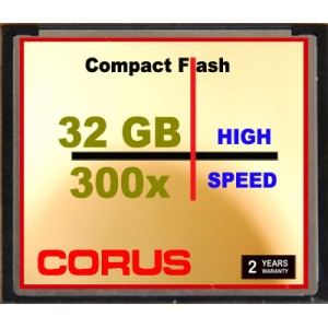 CORUS Compact Flash 32 Go 300x